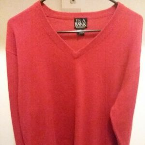 Jos. A. Bank Red Cashmere Long Sleeve Sweater